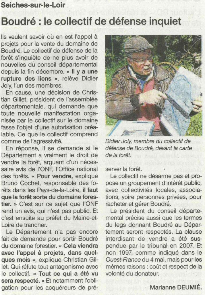 Ouest France du 06 mai 2016