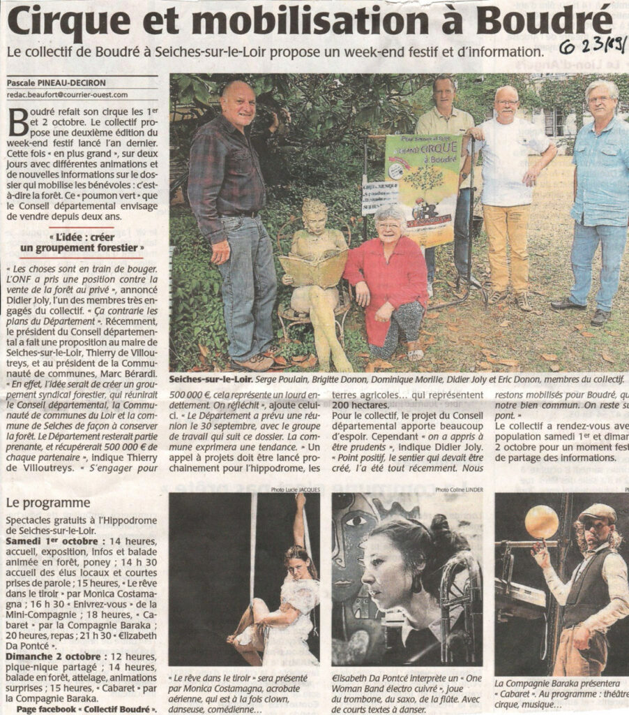 Courrier de l'Ouest du 23 septembre 2016