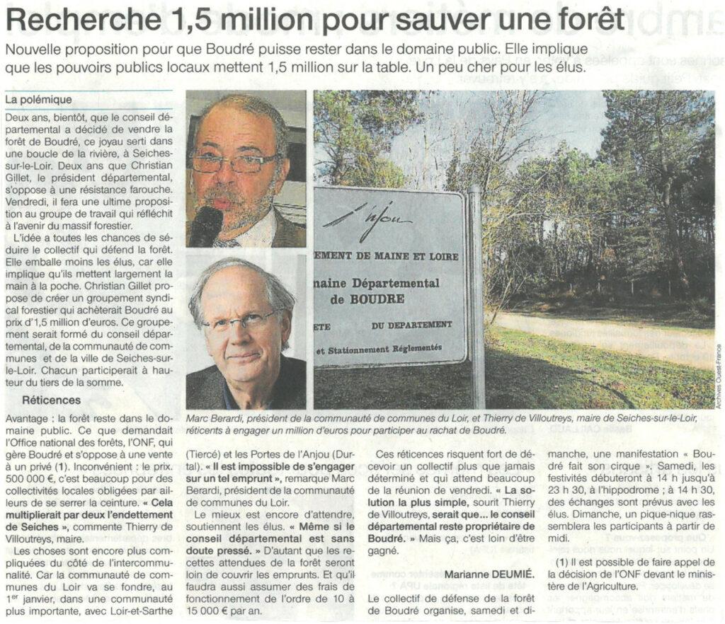 Ouest France du 29 septembre 2016